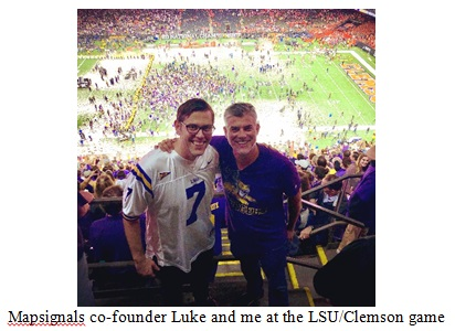 Luke and me at the LSU/Clemson Football Game Image