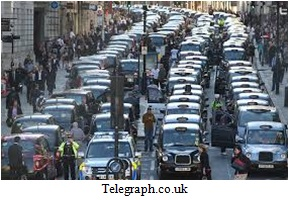 Upset London Cabbies Image