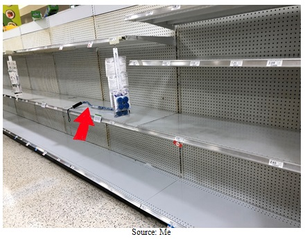 Empty Grocery Shelves Image
