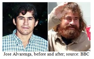 Jose Alvarenga, Before and After Image