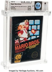Super Mario Brothers Video Game Cartridge Image