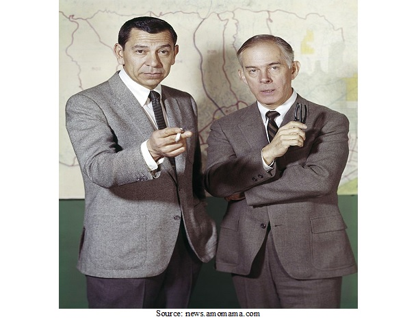 "Photograph of the Detectives in ""Dragnet"""