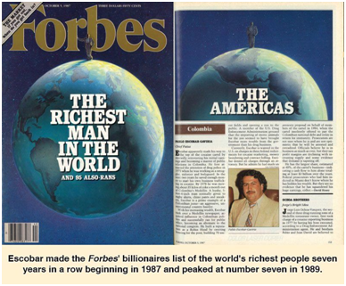 Both Pablo Escobar and Chapo Guzman Have Made Forbes Magazine