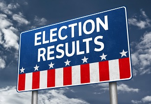 Election Results Road Sign Image