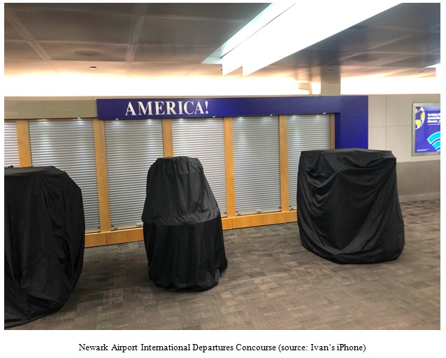 Newark Airport International Departures Concourse Image