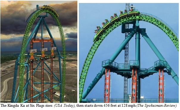 Six Flags Kingda Ka Roller Coaster Image