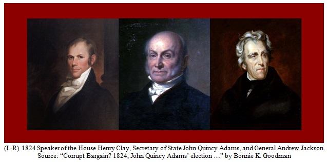 Corrupt Bargain Actors of 1824 Election Image
