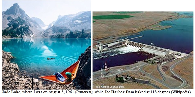 Jade Lake and Ice Harbor Dam Images
