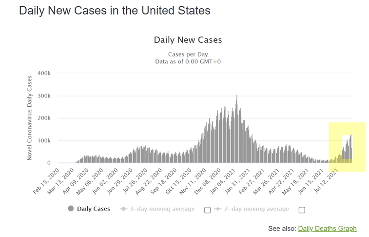 Daily New Cases in US Chart